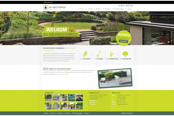 Website De Heesterhof
