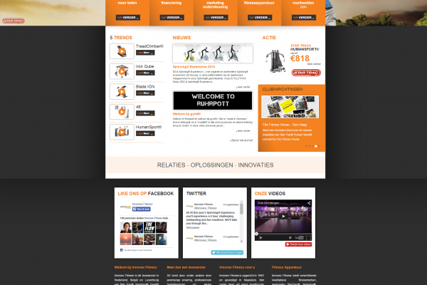 Website Innovex Fitness