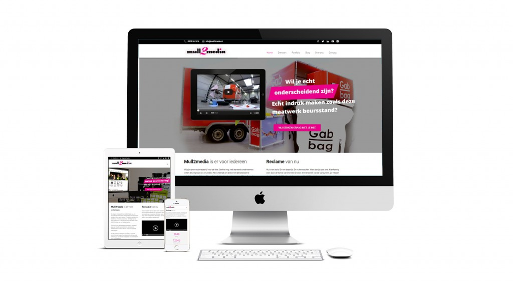 Nieuwe website Mull2media