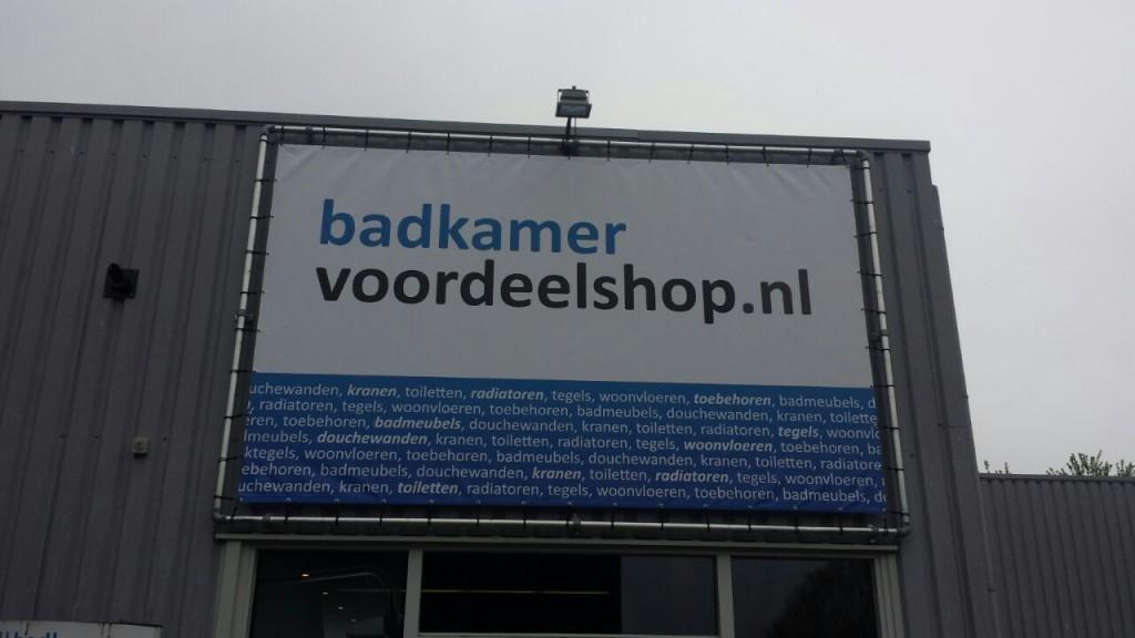 Spandoek voor Badkamervoordeelshop.nl - Mull2media
