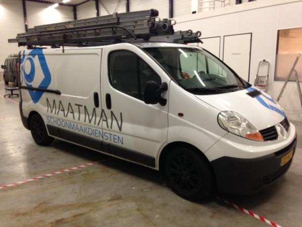 Autobelettering Maatman Schoonmaakdiensten