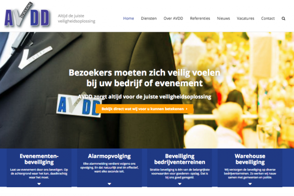 Website AVDD Beveiliging