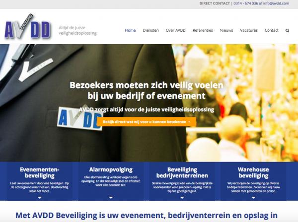Website AVDD Beveiliging