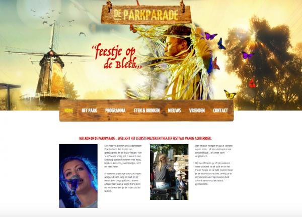Websote Parkparade Doetinchem