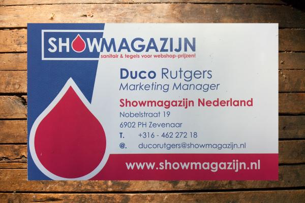 Visitekaartjes Showmagazijn