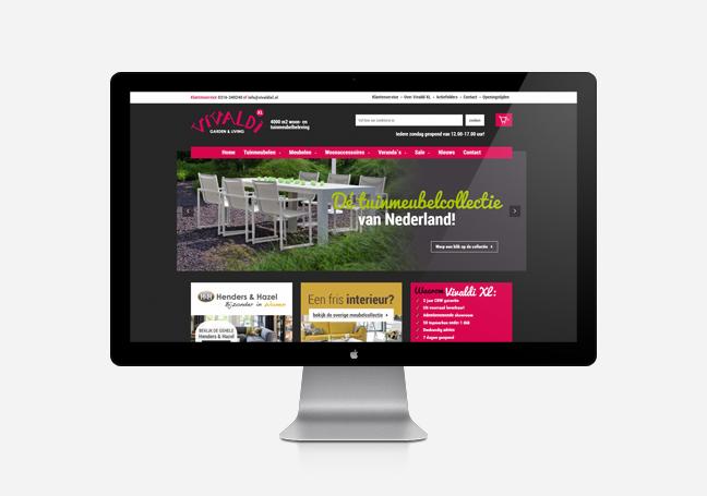 Udestående Nieuwe webshop voor Vivaldi XL in Zevenaar - Mull2media Doetinchem BA35