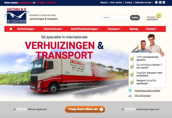 Website Jacobs Verhuizingen