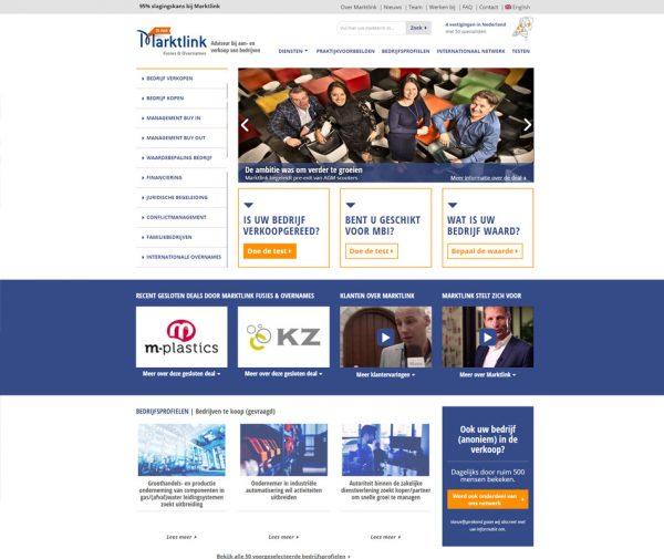Website Marktlink Fusies & Overnames