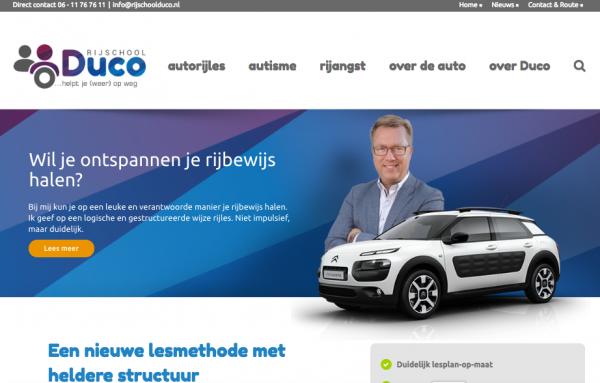 Website Rijschool Duco