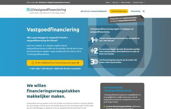 Website 123Vastgoedfinanciering
