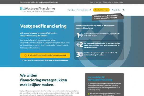 Website 123Vastgoedfinanciering