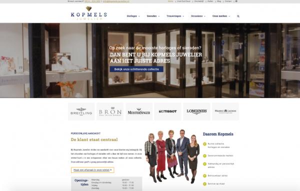 Website Kopmels Juwelier