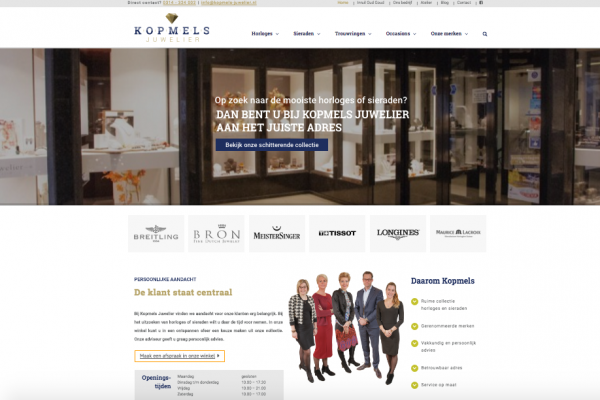 Website Kopmels Juwelier