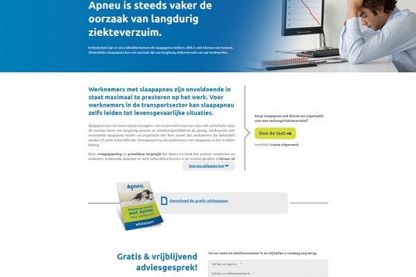 Website Apneu en Werk