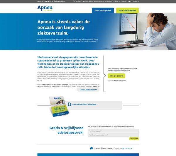 Website Apneu en Werk