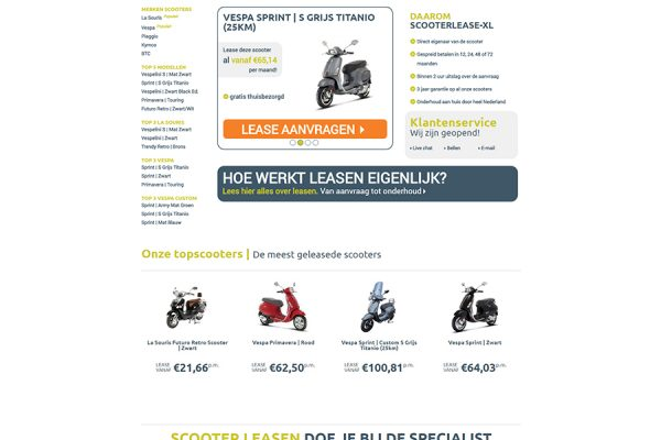 Website Scooterlease XL