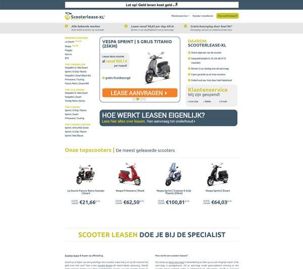 Website Scooterlease XL