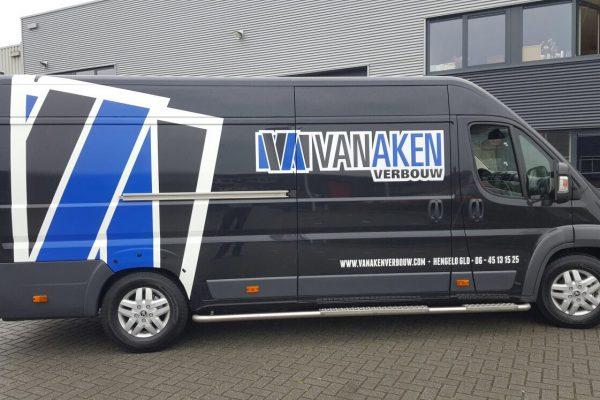 Autobelettering Van Aken Verbouw