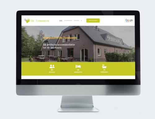 Website Groepshotel De Tienhoeve