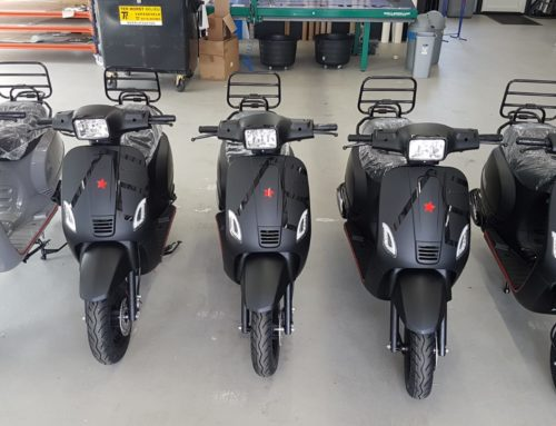 Scooterbelettering La Souris Scooters