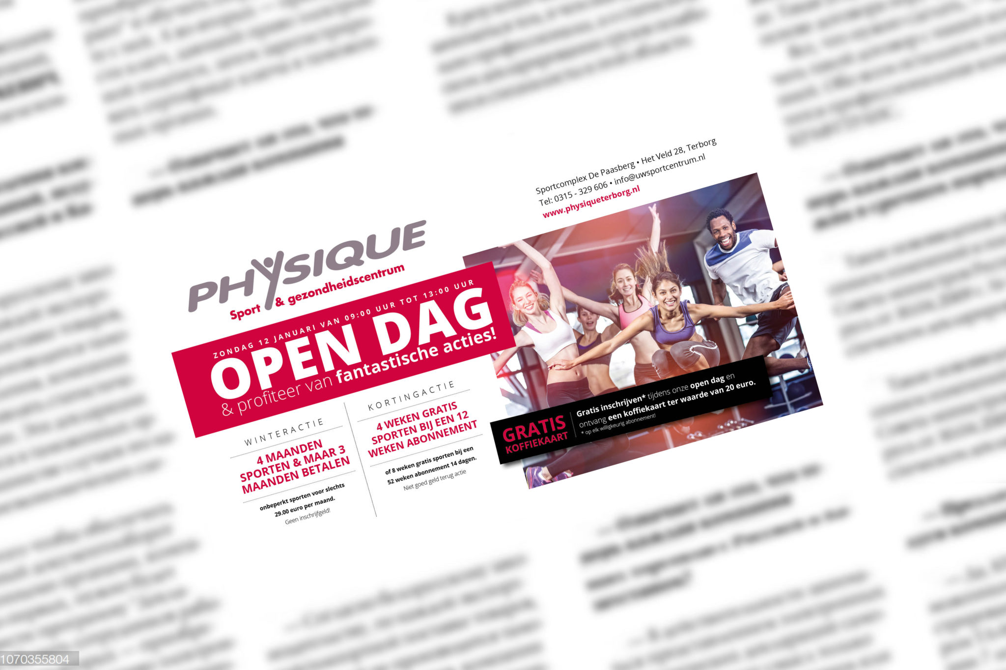 Fitness Centrum Physique advertentie