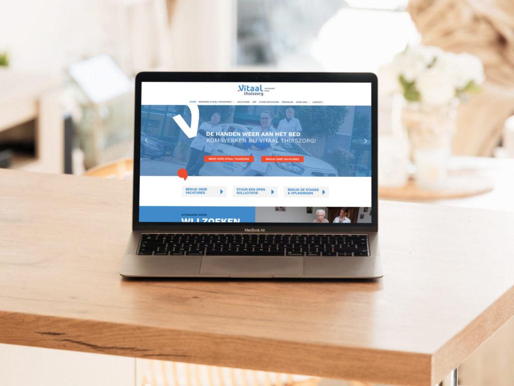 Website werken bij Vitaal Thuiszorg