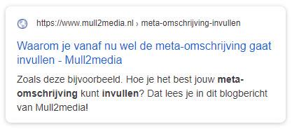 Meta-omschrijving invullen Mull2media