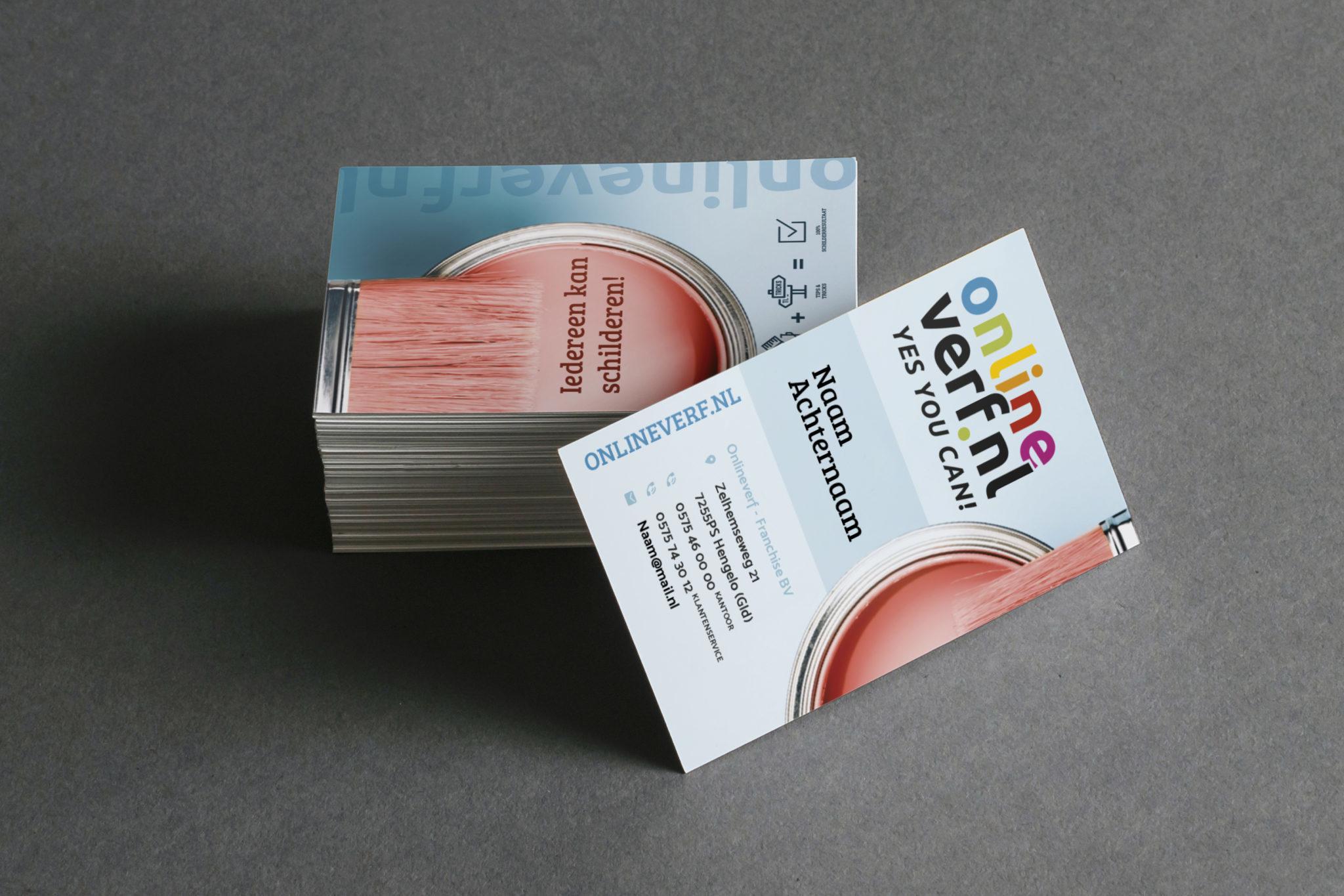 Visitekaartjes Onlineverf.nl